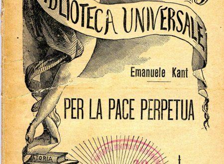 """""""Per La Pace Perpetua"""".  Europa unita? Alla ricerca delle radici ideali."""